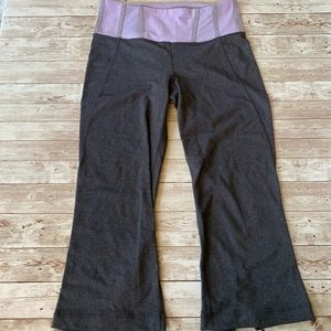 Lululemon Gather and Crow Lilac Grey Crop Legging